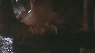 Galaxy Of Terror Worm Sex Scene V5A Giant Worm is humping bronde beauty!