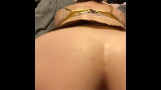Homemade star wars parody slave leia and han solo hook up at Halloween party