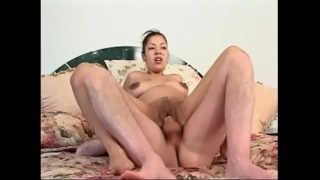 Horny cock sucking preggo chick Porsha gets cock and cum on her tight pink pussy