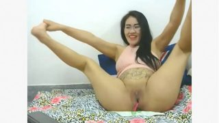 Sexy Pregnant girl plays with pussy