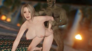 Skyrim Nasty orc fucked a blonde girl